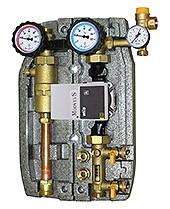 Solarpompgroep dubbel - ontluchter max 12ltr p.m. 22mm knel Grundfos Hybrid