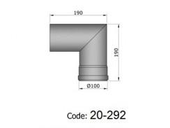 Pelletkachelpijp 1.2mm 100 bocht 90° zwart